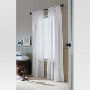 Threshold Sheer Clipped Curtain Panel (Set of 2)